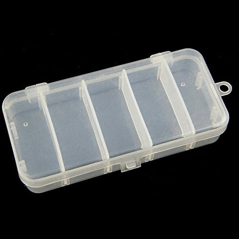 3 Pcs/Lot 5x2x1in 5 Slots Plastic Fishing Tackle Storage Trays Box Case For Fishing Lures Hooks Spoons Baits Container Utility Tray
