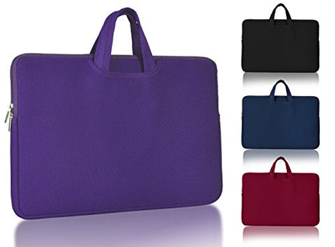 "| Laptop Sleeve Bag | 17"" Water-proof, Drop-proof Case, with Collapsible Carrying Handles for Laptops, Computers, and Macbooks - Ultra slim Cover with Storage Pockets."