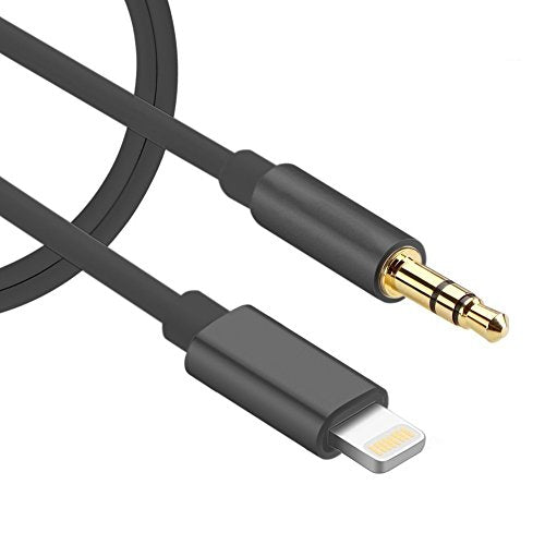 sports shoes c475f dd01a Lightning to 3.5mm Male Aux Audio Cable iPhone 7 Car Aux Cable, Sprtjoy  Lightning to Male 3.5mm Auxiliary Audio Stereo Cord for iPhone 7 / 7 plus  to ...