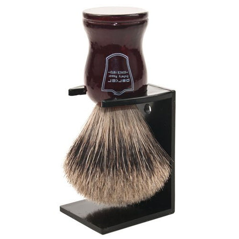 "Parker Safety Razor Premium Handmade ""LONG LOFT"" 100% Pure Badger Bristle Shaving Brush with Rosewood Handle -- Brush Stand Included"