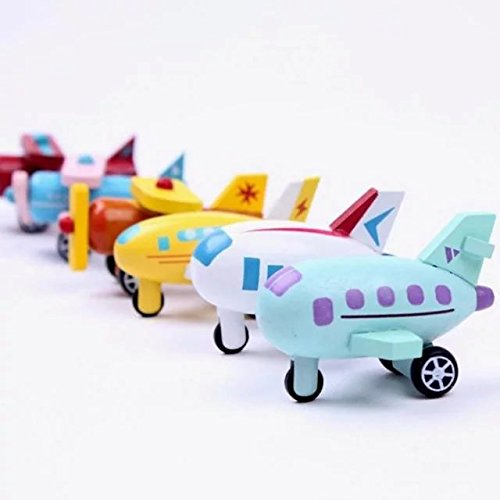 12Pieces/set Wooden Mini Aircraft Complete Set Education Toys Kids Multicolor Helicopter Wooden Airplane Model Toys Baby Kids Gifts,For 1-15 Years Old Children