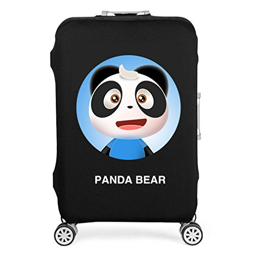 Water-Resistant Luggage Cover Protector Elastic Dust Suitcase Cover Trolley Case Cover 19-28 inch Luggage Black M