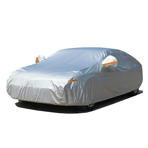 "Kayme Three Layers Waterproof All Weather Car Covers Cotton Thicker For Automobiles Indoor Outdoor Mazda 3 Ford Focus Mini Cooper Audi A3 VW Golf 2L (160""-173"" L) For Hatchback"
