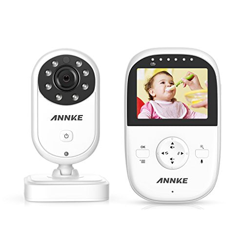 Premium Wireless Baby Monitor By ANNKE - Built-In Camera & Clear Two-Way  Audio - Night Vision Mode - 2 4GHz Encrypted WiFi Long Transmission Range -