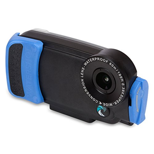 Watershot Pro Line Underwater Housing Kit for iPhone 6 Plus / 6S Plus, Black/ Snorkel Blue