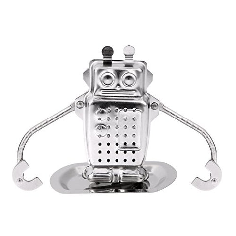 UltimaFio(TM) Stainless Steel Robot Tea Infuser Loose Leaf Diffuser Strainer Herbal Spice Filter Drinkware Funny Gifts