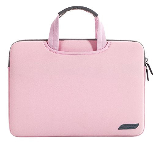 "14 15 inch Laptop Sleeve, Laptop Bag, Lightweight Computer Sleeve Carrying Case Notebook Pouch Bag for MacBook Air 15/Mac Pro 15 Retina/ 14.1"" Dell Lenovo ASUS Samsung HP Acer Chromebook 14 - Pink"