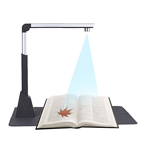 Aibecy Portable Document Camera Scanner High Speed 10 Mega-pixel HD High-Definition Max. A3 Scanning Size with LED Light for Classroom Office Library Bank High Speed