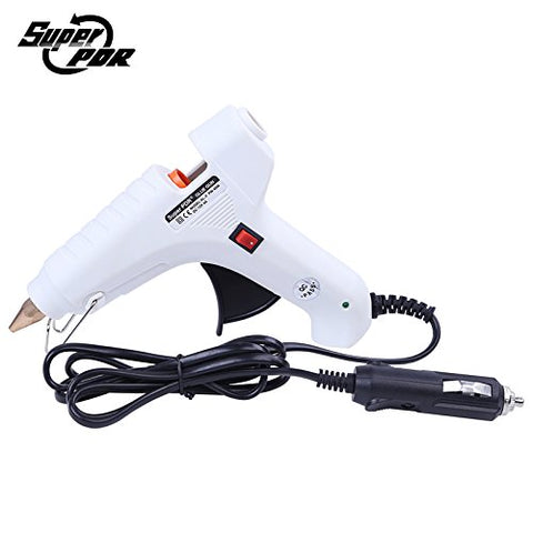 Daphot Store - White Hot Melt Glue Gun 12V Car charger for car dent repair tools kit 40W Electric Heat Temperature Tool