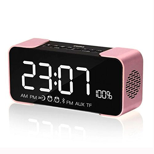 Bluetooth Speakers,Werleo Hi-Fi Portable Wireless Stereo Speaker with Alarm  Clock,Build-in Mic,FM Radio,LED Light,Hands-free,Two Subwoofer Enhanced