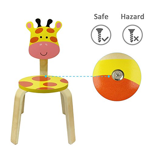 Giraffe Wood Stackable School Chair For Classroom Playroom Daycare Nuresery Learning Furniture Set Wooden Animal Stool And Seat For Kids