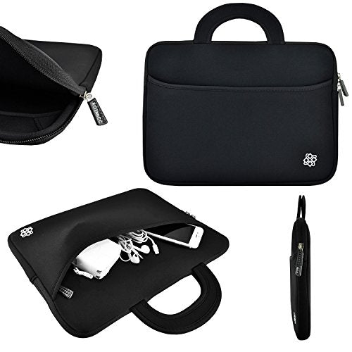 Laptop Portable Neoprene Carrying Sleeve Case Bag Handle  Pocket for Apple Macbook Air Pro, Dell, HP, Samsung