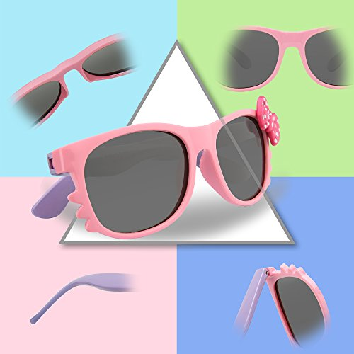 05dc31e3f0c RIVBOS Rubber Kids Polarized Sunglasses With Strap Glasses for Boys Girls  Baby and Children Age 3