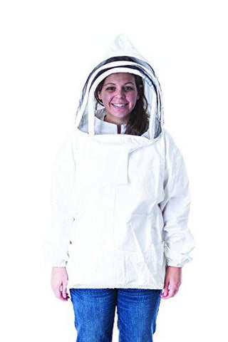 Pigeon Mountain Trading Company Women's Beekeeper Jacket with Fencing Hood for Beekeeping (Large)