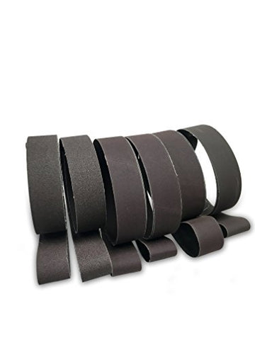 2 X 36 Inch Knife Sharpening Sanding Belts - Fine Grits - 6 Pack Assortment