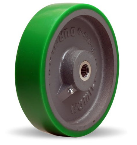"Hamilton W-820-D-3/4 Duralast Polyurethane (95A) on Cast Iron Wheel with Straight Roller Bearing, 8"" Diameter x 2"" Width, 1,500 lb. Capacity"