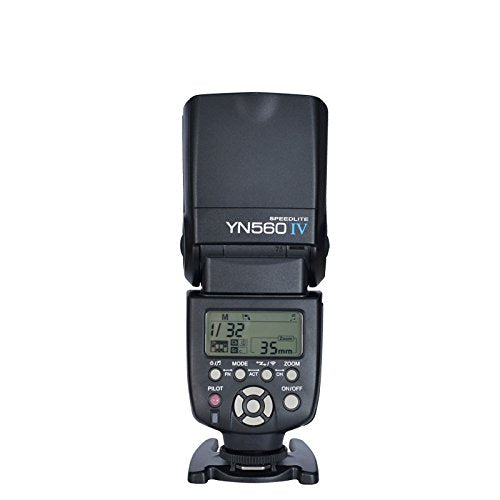 YONGNUO YN560 IV Wireless Flash Speedlite Master + Slave Flash + Built-in Trigger System for Canon Nikon Pentax Olympus Fujifilm Panasonic Digital Cameras