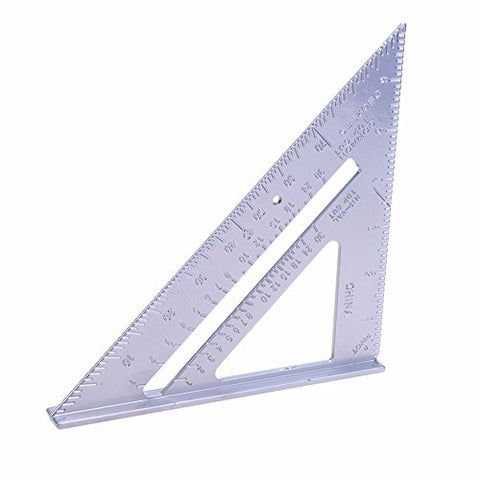 Best Garden Tools Silver Triangle Speed Protractor Miter Aluminum Alloy Inch Framing Tri-square Line Scriber Saw Guide Measurement Carpenter Rule