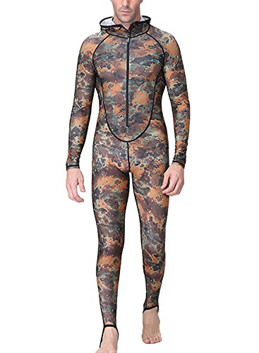 Men Full Cover Wetsuit UV Protection Dry Fast Diving Suit Snorkeling Swimwear
