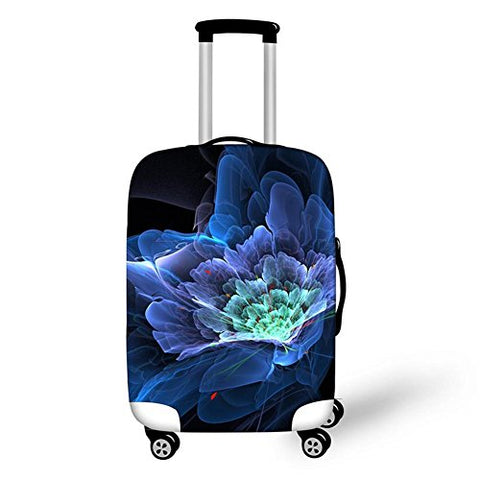 Dbtxwd 3D Suitcase Protective Cover Creative Fantasy flowers Printing Wear-resisting Dustproof Scratch-resistant Travel Luggage Cover 18-28 inch , 2 , m