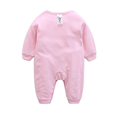 2018 Baby Rompers Long Sleeve Cotton Quilted Baby Jumpsuit Cartoon Newborn Boy Girl Clothes 9-12M