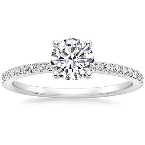 1 Ct Halo Solitaire Cubic Zirconia Promise Engagement Ring 925 Sterling Silver Ring Size 8