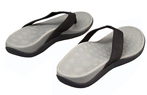 PRO 11 WELLBEING Orthotic Womens Sandals For Arch Support And Plantar Fasciitis 39/ EU Grey Black