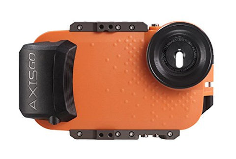AxisGO Waterproof iPhone Housing, Fits 7 Plus & 8 Plus, for Underwater Photo and Video - Sunset Orange
