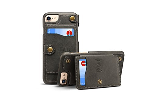 Iphone 78 Cover Leathertacoo Zipper Credit Card Business Card