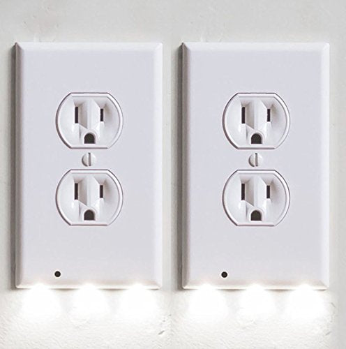 H Bar H Home Outlet Wall Plate With 3 Led Night Lights No