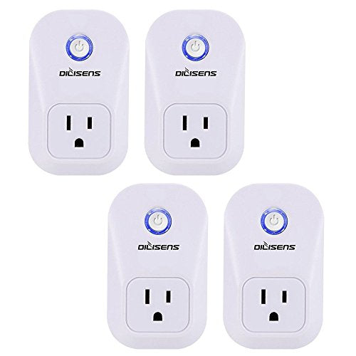 Smart Plug, Alexa Socket Outlet DILISENS Wireless Timing Smart Switch  Remote Control Your Smart Home Devices, Wi-FI, No Hub Required, Works with