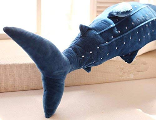 Large Blue Whale Shark Plush Toy For Kids Cute Animal Stuffed Pillow