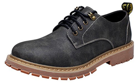 Salabobo FJQY-57057 New Mens Leisure Cozy Comfy Hiking Warm Working Shoes Black US Size8