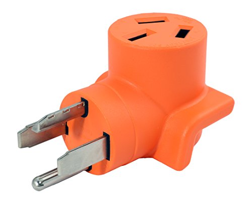 AC WORKS [WD14301050] 30Amp 4-Prong 14-30P Dryer Plug to 10-50R 50Amp 125/250V Welder adapter