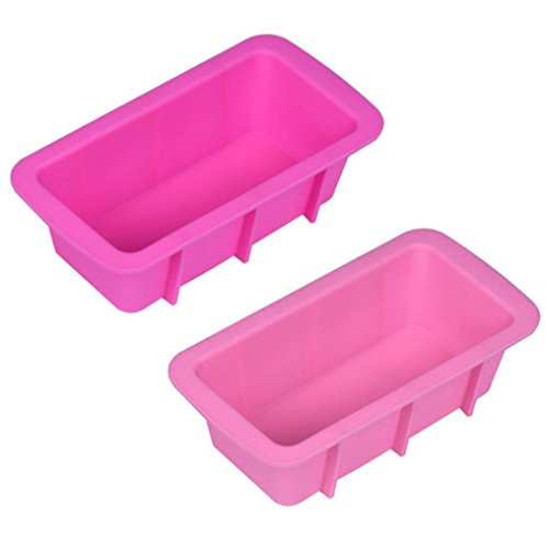 Longay 1pcs Silicone Bread Loaf Cake MoldLongay Non Stick Bakeware Baking Pan Oven Rectangle Mould Random Color (A)