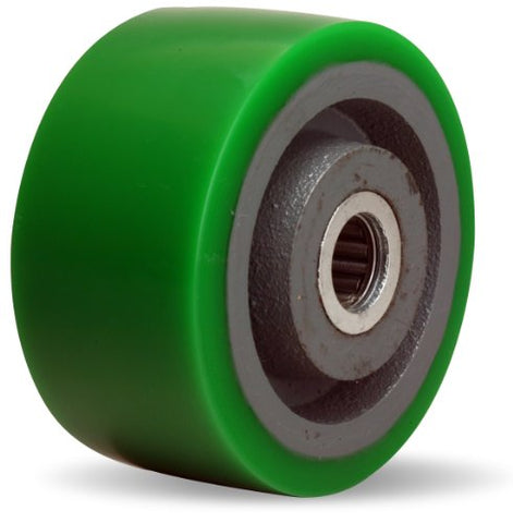 "Hamilton W-420-D-3/4 Duralast Polyurethane (95A) on Cast Iron Wheel with Straight Roller Bearing, 4"" Diameter x 2"" Width, 750 lb. Capacity"