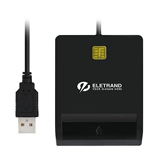 Eletrand DOD Military USB CAC Smart Card Reader Compatible with Windows,  Mac OS and Linux, Build-in 92CM Extension Cable