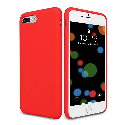 promo code 431f8 4ee37 iPhone 8 Plus Case, iPhone 7 Plus Silicone Case, DIGITWHALE Liquid Silicone  Gel Rubber Case with Shockproof Cover Soft Microfiber Cloth Lining Cushion  ...