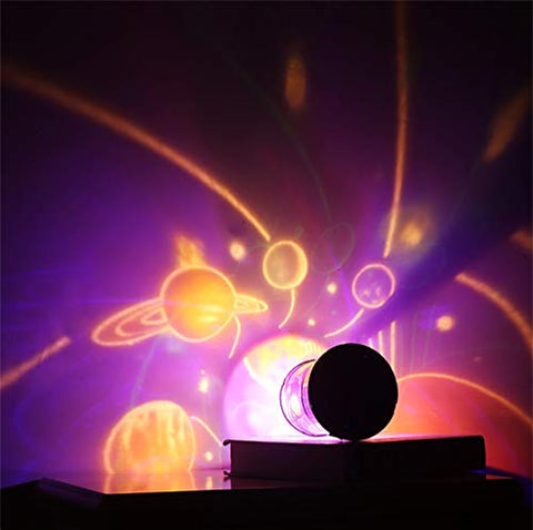 YRE LED Colorful Bar Party Festival Romantic Celebration Sky Projector Light Atmosphere Lamp Birthday Light Bedroom Children's Room Night Light,Space