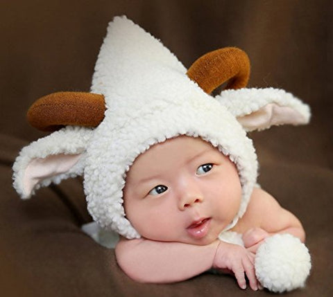 Halloween Christmas Festival Celebration Party Shown Western Fashion Costume Handmade Cartoon Beautiful Sheep Goat Styling Kit Hat Baby Woolen Underwear Suit Photo Camera Clothing