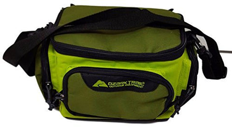 Ozark Trail Green Soft-Sided Fishing Tackle Storage Bag with 3 Utility Boxes 11x7x6.25""