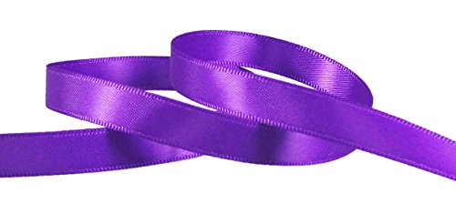 "Hipgirl Wholesale Bulk 100 Yard 3/8"" Double Face Satin Fabric Ribbon For Gift Package Wrapping,Floral Design,Hair Bow Clip Making,Crafting,Sewing,Wedding Decor,Boy Girl Baby Shower--Purple"