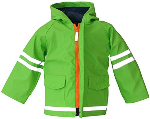 I Rock the Block Little Boys' Rain Jacket Raincoat - 2t Lime