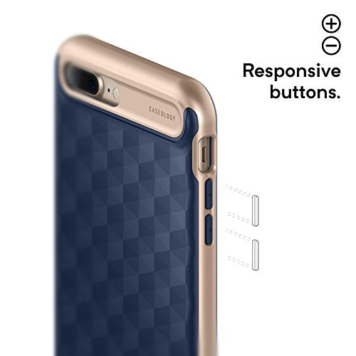 sports shoes ea651 0e83b Caseology Parallax Series iPhone 7 Plus / 8 Plus Cover Case with Design  Slim Protective for Apple iPhone 7 Plus (2016) / iPhone 8 Plus (2017) -  Navy ...
