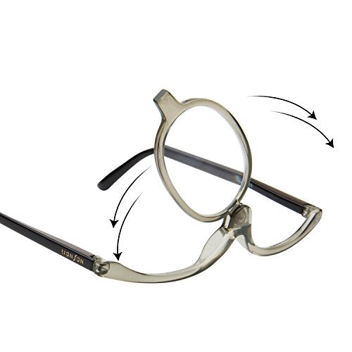 476bb0b92ce LianSan Readers Magnifying Makeup Glasses Flip Down Lens Folding Cosmetic  Womens Make Up Reading Glasses L3660