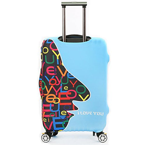 Dofover Travel Luggage Protector Anti-dust Luggage Cover Suitcase Protective Cover, Apply to 18-32 inch Suitcase (M, Love face)