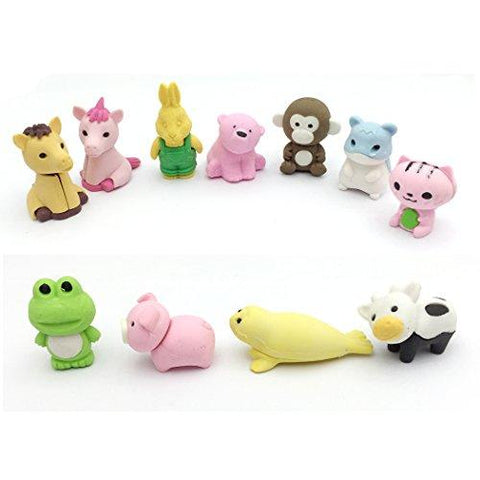 YETOOME 20 Puzzle Take Apart Animals Erasers Collectible Best for Party Favors, Games Prizes, Carnivals and School Supplies