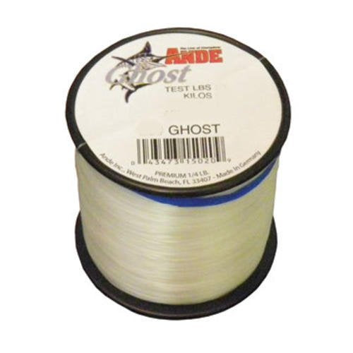 Ande G14-20C Ghost Monofilament Fishing Line, 1/4-Pound Spool, 20-Pound Test, Clear Finish