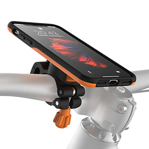 Morpheus Labs M4s iPhone X Bike Kit, Bike Mount & iPhone X Case, cell phone holder for Apple iPhone X / iPhone 10, safe bicycle phone mount, bicycle holder [Orange]