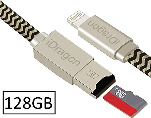 128GB iPhone iPad USB Flash Drive 3 0 with Charging Support, Pen Thumb Jump  Drive with Extended MFi Lightning Connector for iOS Mac Windows PC,
